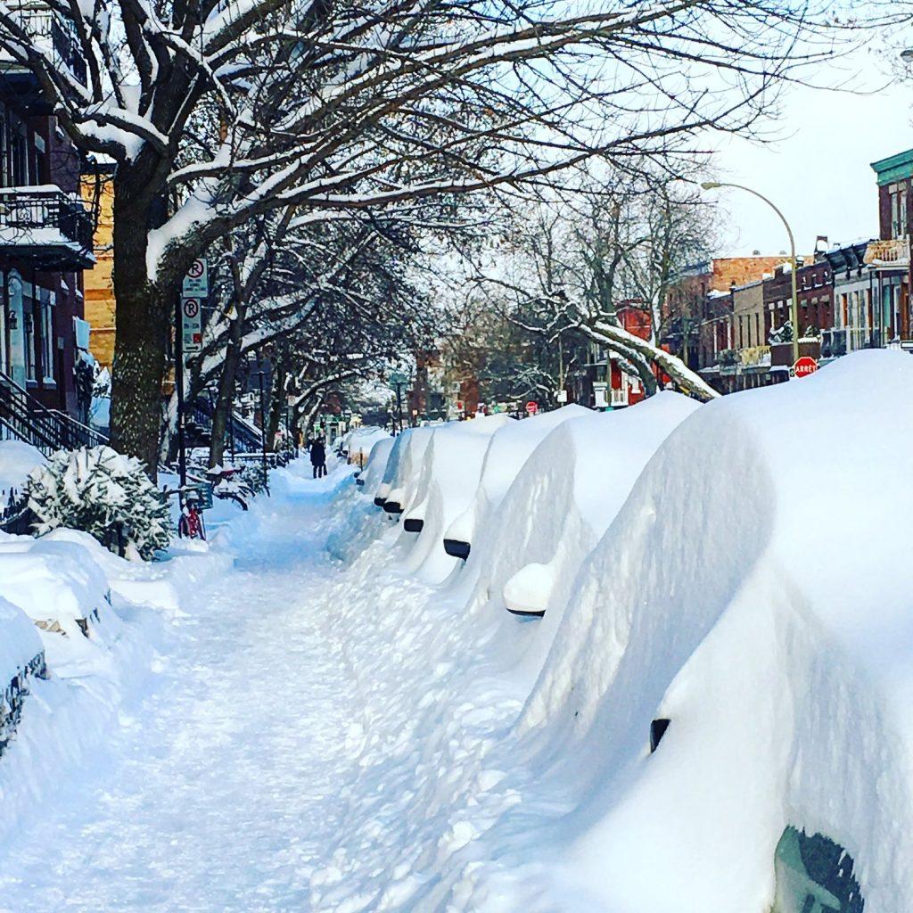 Neige Montréal Québec Bymelm