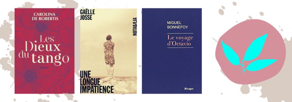 Trois livres du mois d'octobre 2020